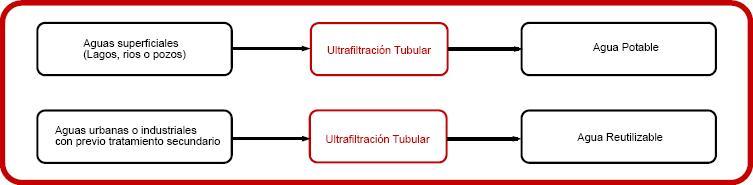 Esquema ultrafiltración tubular